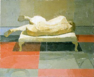 Jana 1996 - 1997 by Euan Uglow., Oil on canvas laid on board., 14 x 16 3/4 in., Browse & Darby Ltd.