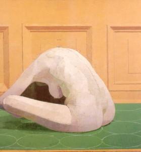 The Pyramid by Euan Uglow (1994-96) . Model: Elaine Maffrett